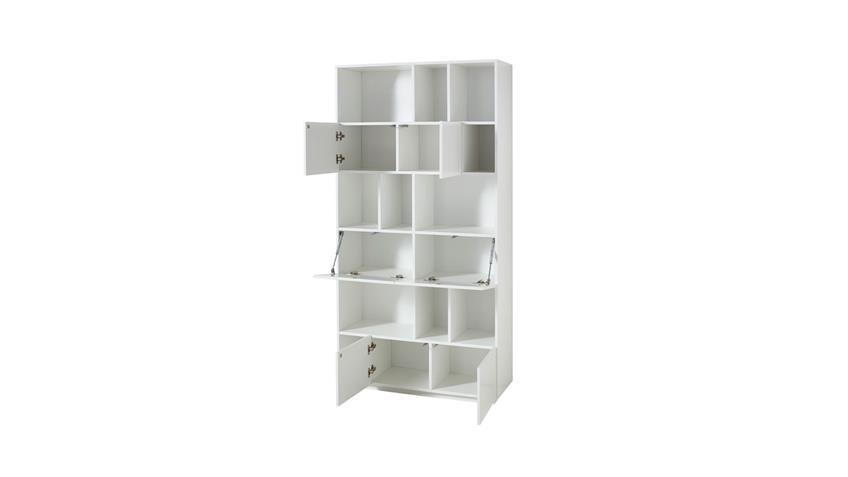 Regal RAGA Büroregal Bücherregal Schrank weiß matt lackiert 100x194 cm