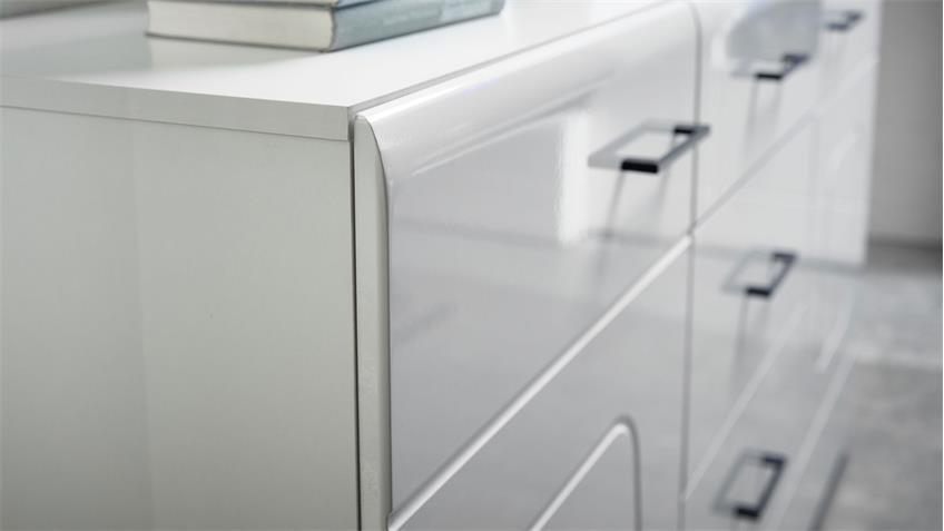 Sideboard SPIRIT PLUS Anrichte Kommode Wohnzimmer in weiß Hochglanz