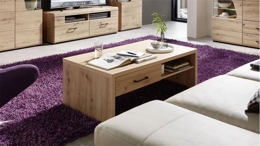 Couchtisch 02 FUNNY PLUS Beistelltisch Wohnzimmer Artisan Eiche 110x65