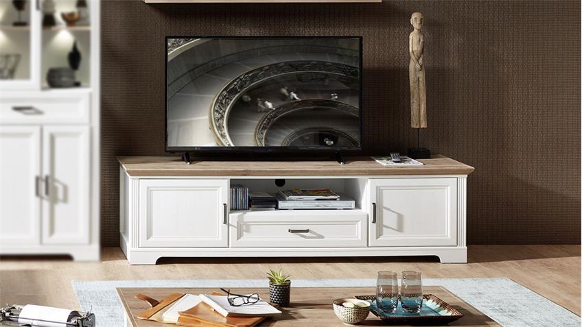 TV-Board YASE Unterschrank Lowboard Pinie hell Artisan Eiche 193x54 cm