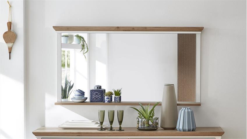Spiegel YASE Wandspiegel Hängespiegel Pinie hell Artisan Eiche 142x74