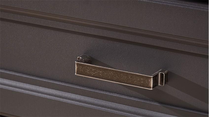 Garderobenschrank YASE Flurmöbel graphit und Artisan Eiche 65x204 cm