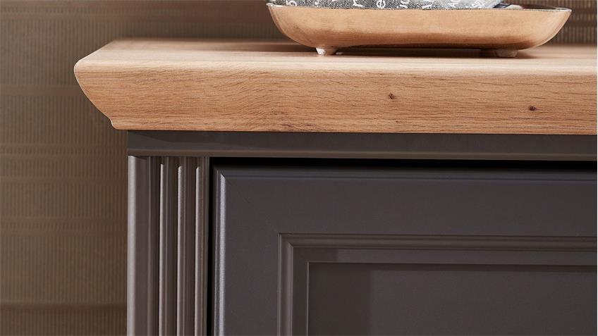 Schuhschrank YASE Flurmöbel in graphit und Artisan Eiche 65x102 cm