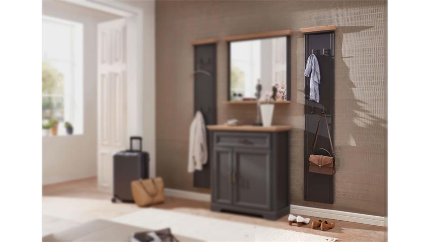 Garderobenpaneel YASE Paneel in graphit und Artisan Eiche 41x195 cm