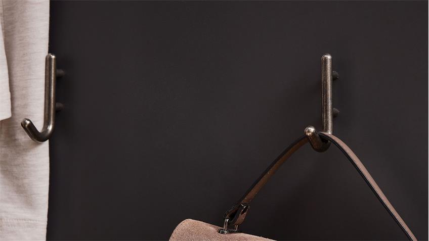 Garderobenpaneel YASE Paneel in graphit und Artisan Eiche 93x107 cm