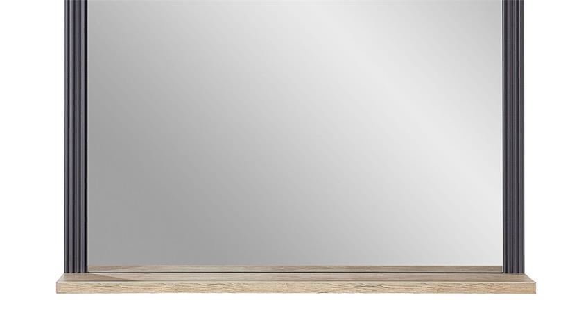 Spiegel YASE Flurmöbel Wandspiegel graphit und Artisan Eiche 93x83 cm
