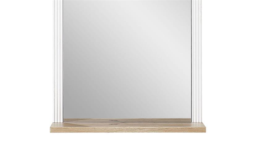 Spiegel YASE Wandspiegel Flurmöbel Pinie hell und Artisan Eiche 65x83