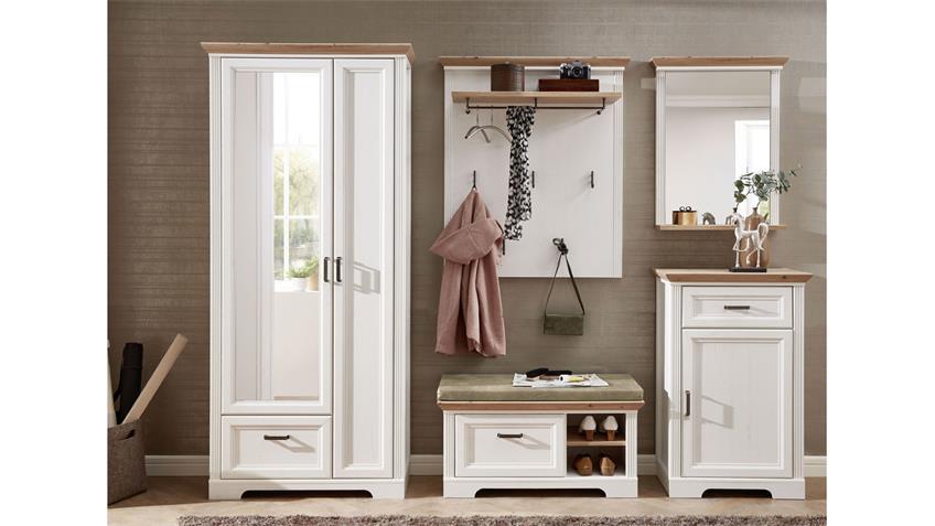 Garderobenset 3 YASE Garderobe in Pinie hell und Artisan Eiche 281x204