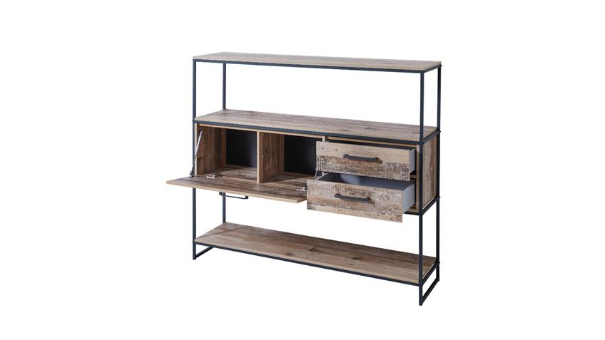 Regal ROOF Ablage Sideboard mit Metallgestell in Used Style 138x120 cm