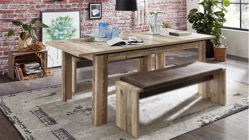 Esstisch ROOF Tisch Küchentisch in Used Style ausziehbar 160-240 cm