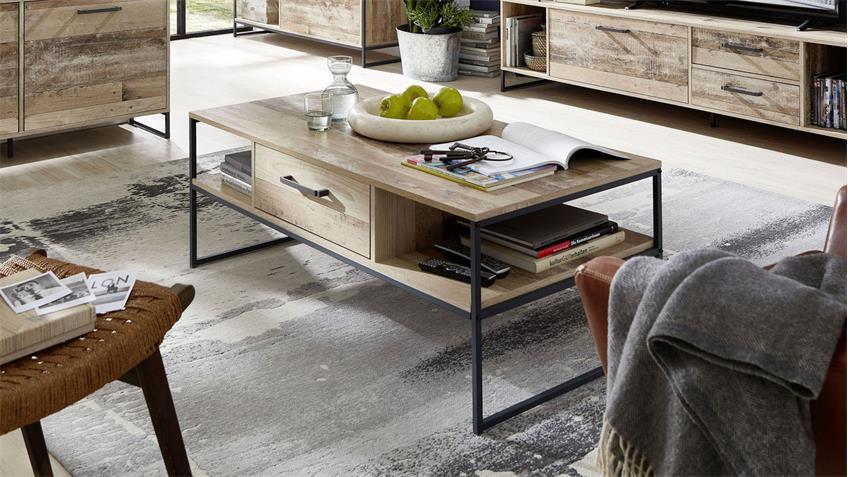 Couchtisch ROOF Beistelltisch Wohnzimmertisch in Used Style 120x60 cm