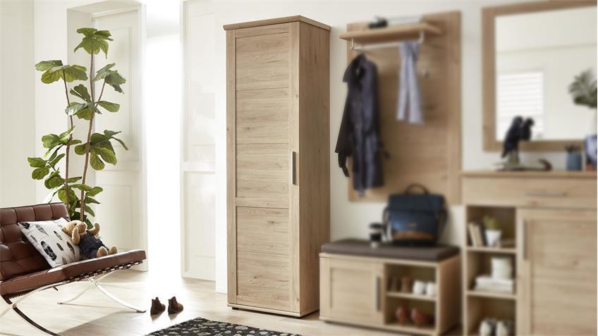 Garderobenschrank FINCA Garderobe Flurmöbel in Jackson Eiche 62x196 cm