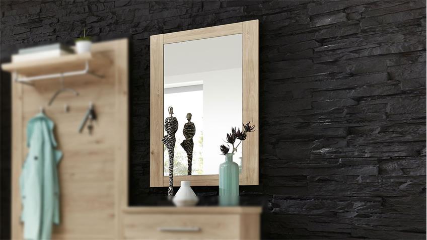 Spiegel FINCA Wandspiegel Hängespiegel Flurmöbel Jackson Eiche 60x87