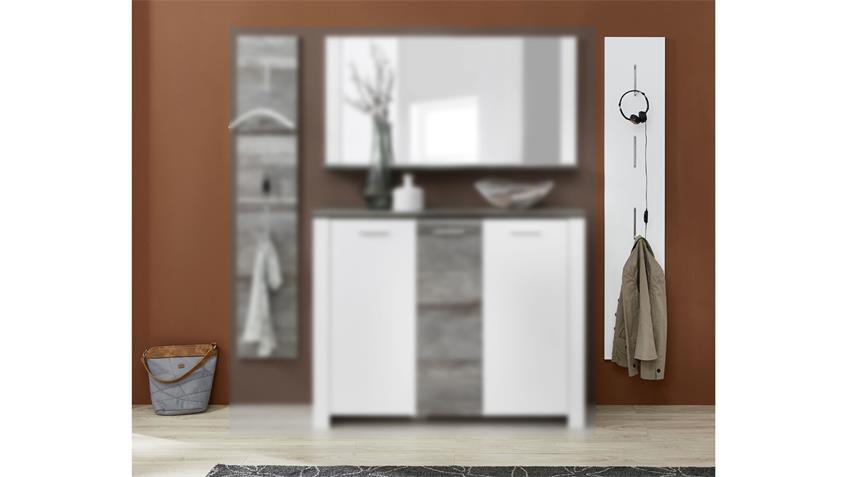 Garderobenpaneel MATEO Paneel Flurmöbel in weiß 31x169