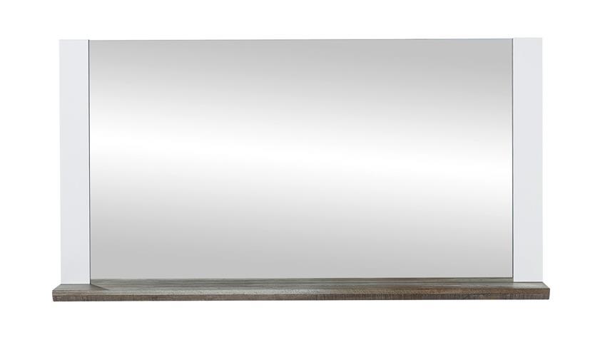 Spiegel MATEO Wandspiegel in weiß und Driftwood 131x70