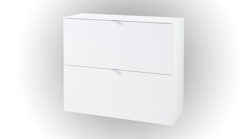 Schuhschrank TICONA weiß lackiert 100 cm Hängeschrank