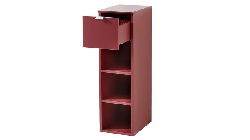 Garderobenset TICONA 5 weiß rot lackiert Flurmöbel 5-teilig