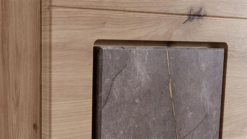 Wohnwand SPIDER PLUS 2 Artisan Eiche Caspio Glas inkl. LED