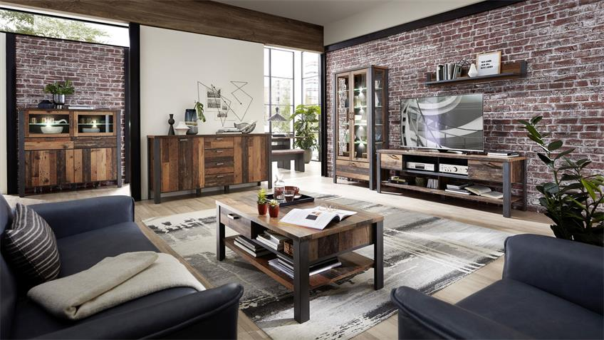 Couchtisch CARDIFF Used Style Dark Matera Wohnzimmer