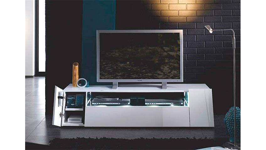 TV-Board CUUBA LUXOR 4 Game Hochglanz weiß von JAHNKE