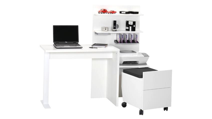Schreibtisch Kombination CUUBA SITTY Weiß von JAHNKE