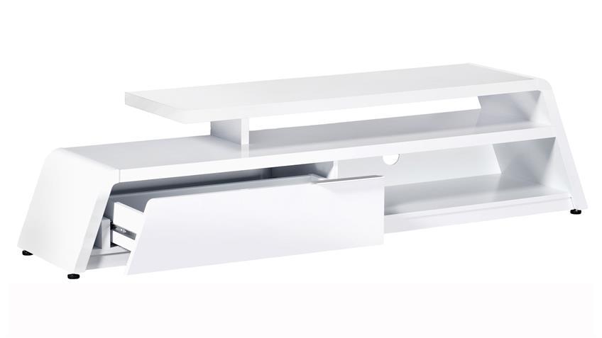 design tv lowboard cu culture m 180 hochglanz weiss von jahnke. Black Bedroom Furniture Sets. Home Design Ideas