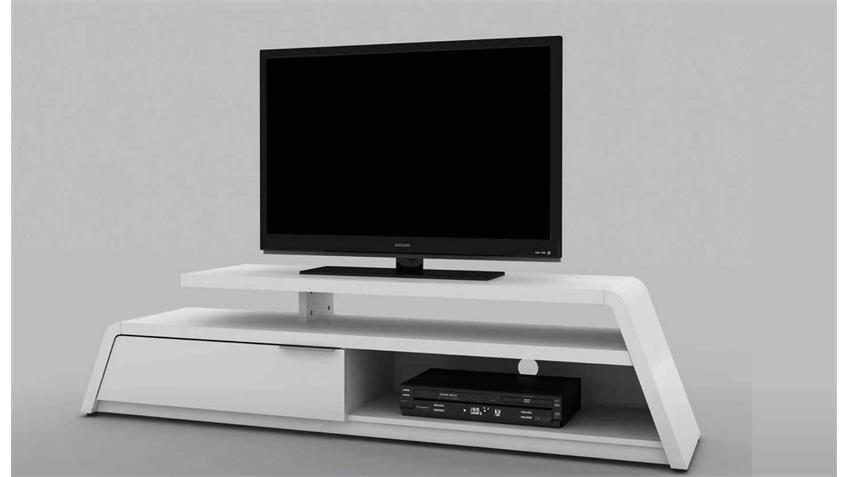 TV Lowboard Cuuba Culture M 180 Hochglanz weiss Jahnke