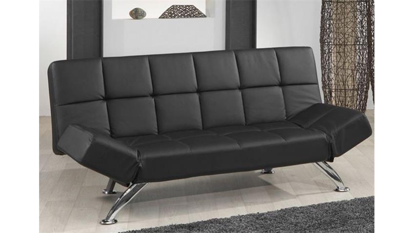 Schlafsofa CRONA Sofa Wohnmöbel in schwarz mit Bettfunktion