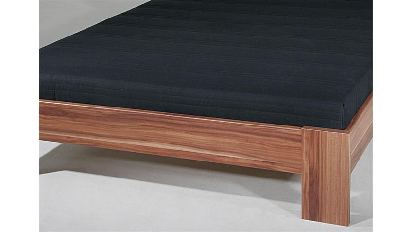 Bett SLEEP Nussbaum inkl. Rollrost und Matratze 140x200 cm