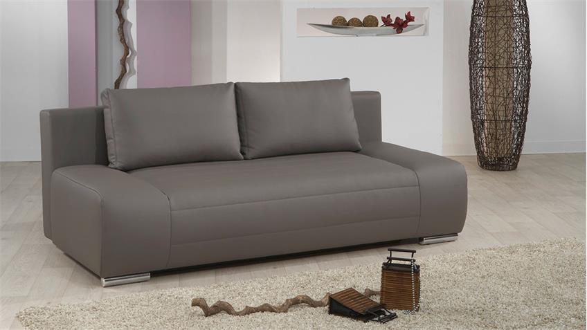 Doppelschlafsofa IV BLANCO Sofa in grau mit Bettfunktion