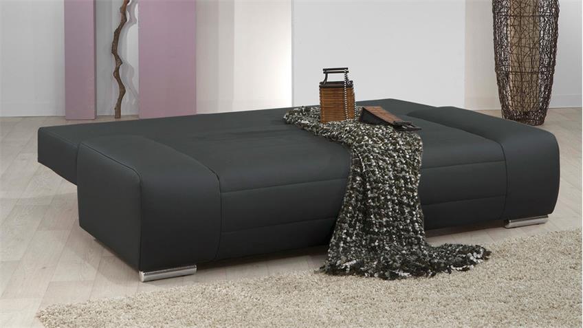 Doppelschlafsofa III BLANCO Sofa in schwarz mit Bettfunktion
