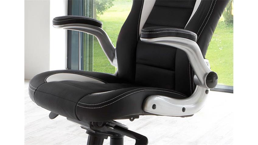 Chefsessel BIDON Bürostuhl Drehstuhl in Schwarz und Weiß