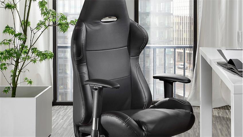Chefsessel AKATI Bürostuhl Schreibtischstuhl Stuhl schwarz