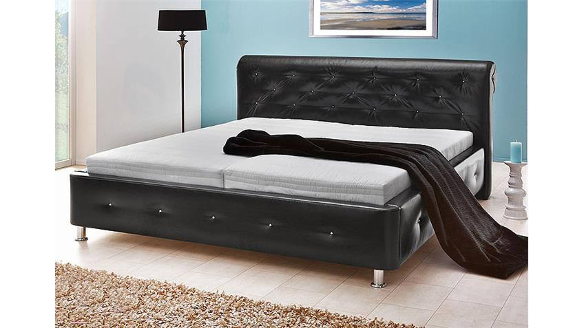 Doppelbett KUMA schwarz chrom 180x200 cm