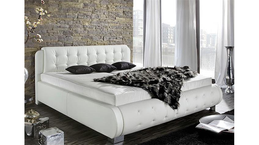 Polsterbett NELIO Schlafzimmer Bett in schwarz 180x200 cm