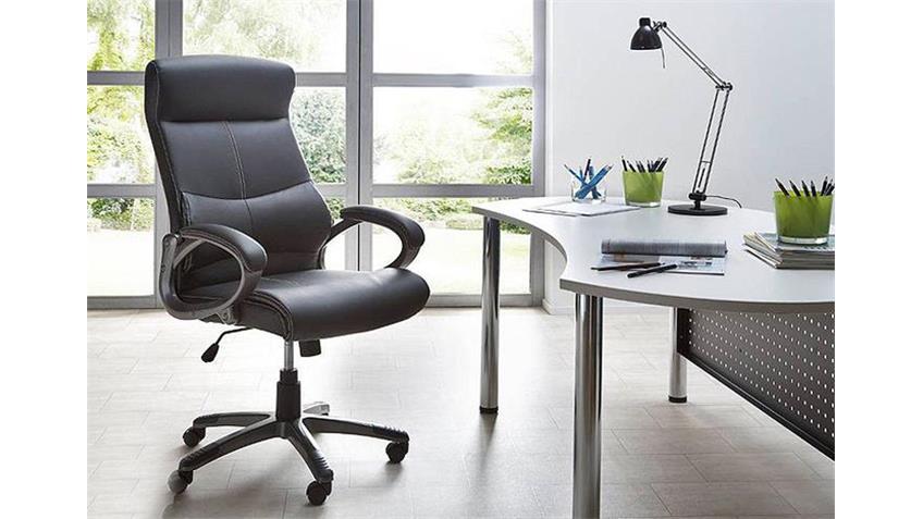 Drehstuhl XANDRA Bürostuhl in Schwarz auf Rollen