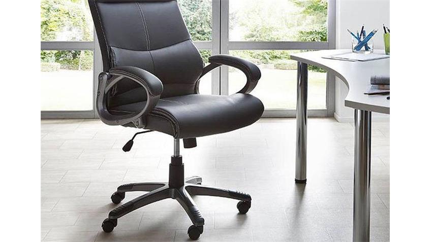Drehsuhl XANDRA Bürostuhl Stuhl Schwarz