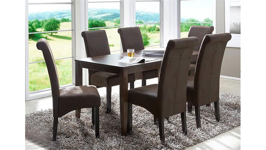 4er set stuhl peo polsterstuhl antik braun. Black Bedroom Furniture Sets. Home Design Ideas