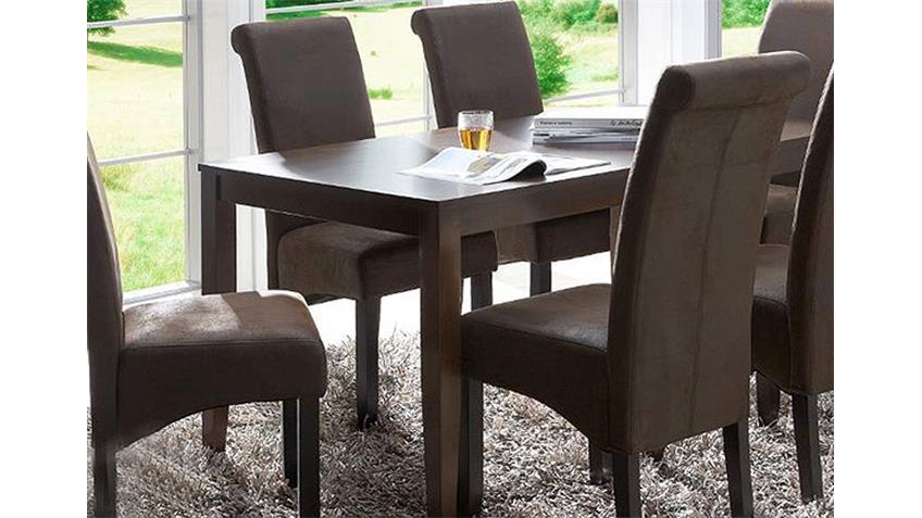 4er Set Stuhl PEO Polsterstuhl Antik braun