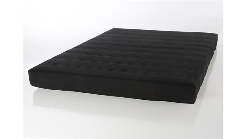Rollmatratze Futonmatratze 140 x 200cm Bezug Schwarz