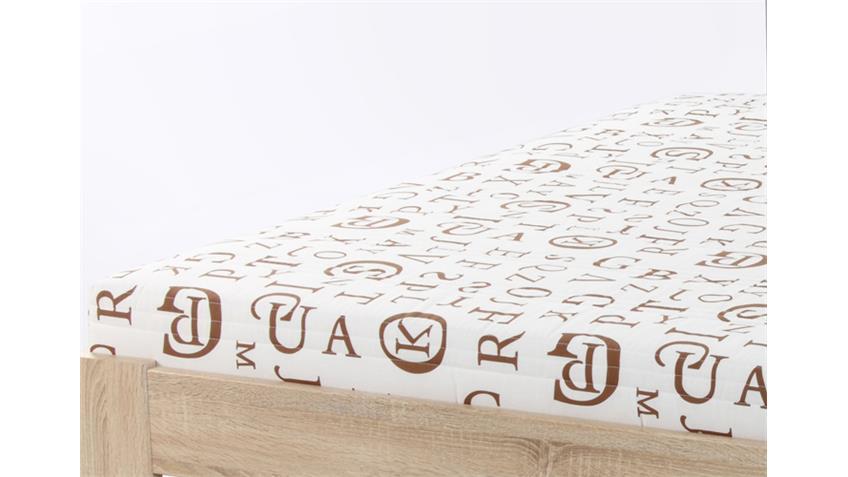 Rollmatratze Futonmatratze 140x200cm Bezug Buchstaben