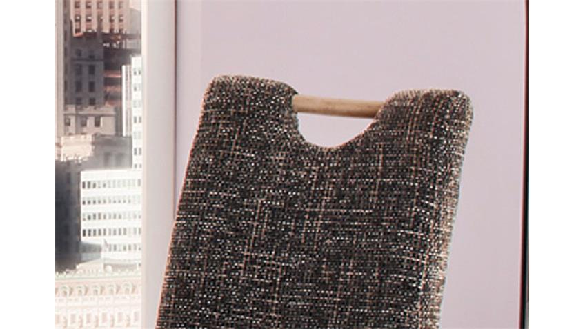 Stuhl KENTUCKY 2er Set Braun Grau  Beine in Sonoma Eiche