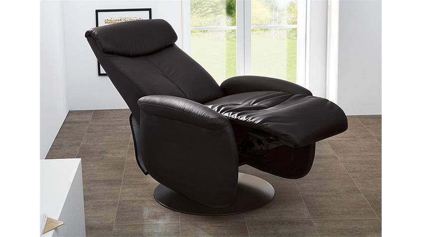 Fernsehsessel BILLY Sessel in schwarz Lederlook verstellbar