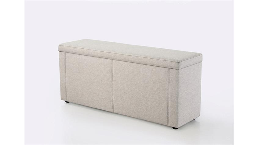Hockerbank RUMBA Hocker PolsterBank Bettbank in beige 140