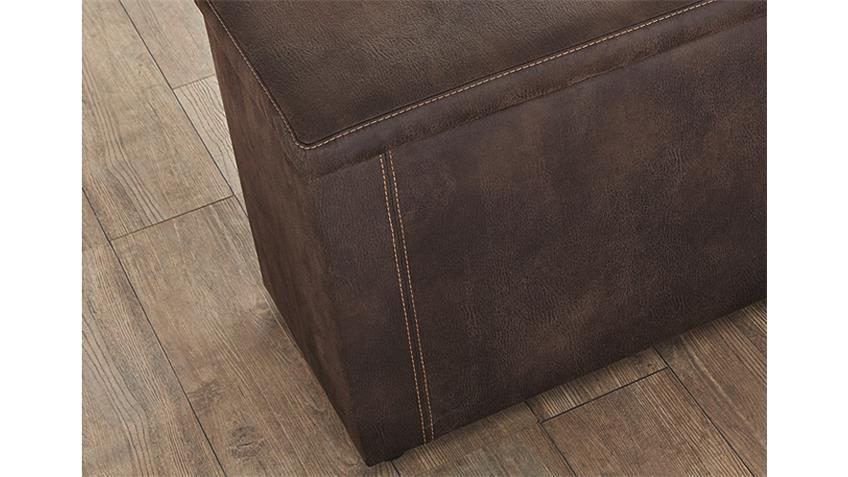 Hockerbank RUMBA Antik Vintage Braun 160 cm