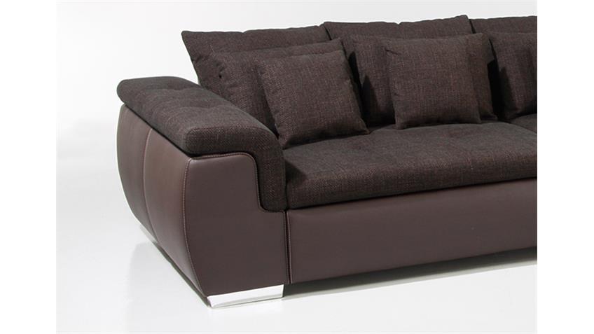 Big Sofa BIG POINT Sofa in Webstoff braun mit Kissen