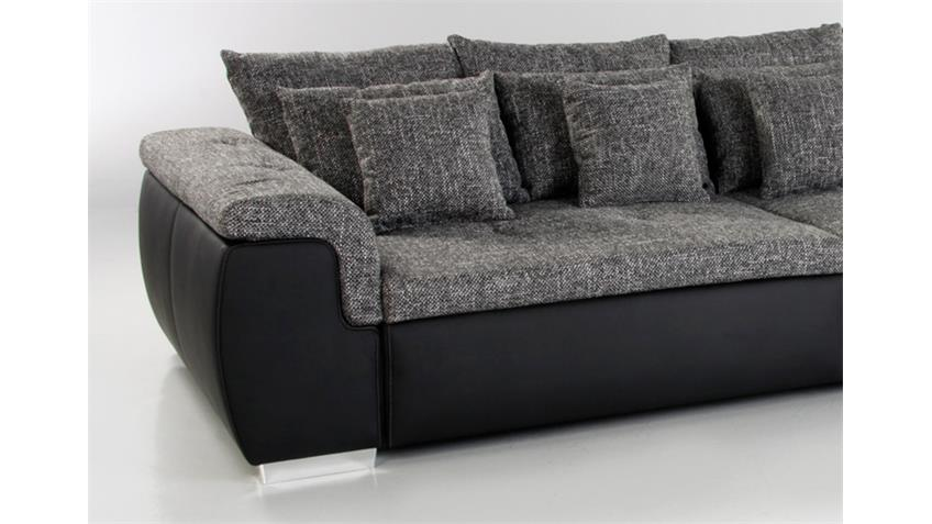 Big Sofa BIG POINT Schwarz Webstoff Anthrazit