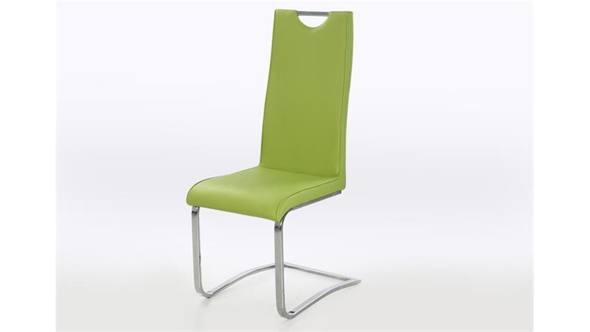 Schwingstuhl EUGEN 4er Set Grün und Chrom