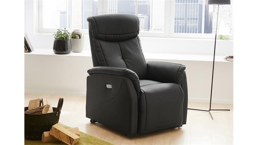 TV Sessel TIMOR Schwarz elektrisch mit Touch-Panel