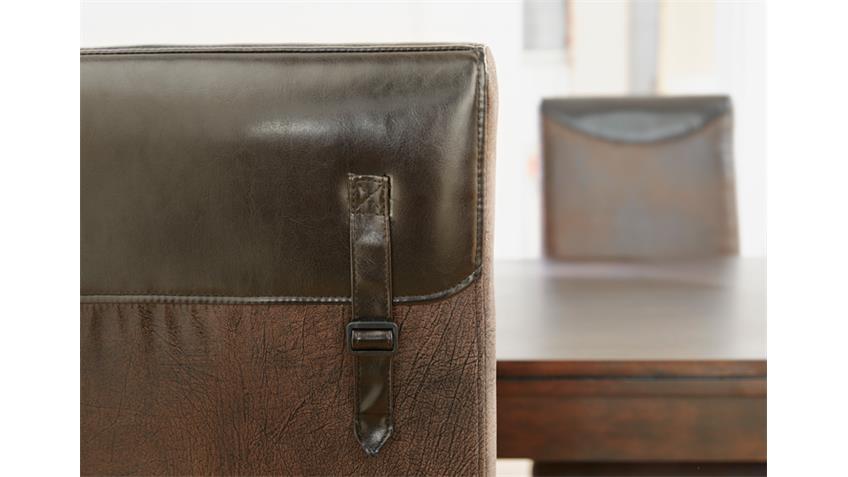 Stuhl 2er Set TOULON Antiklederoptik Braun Vintage